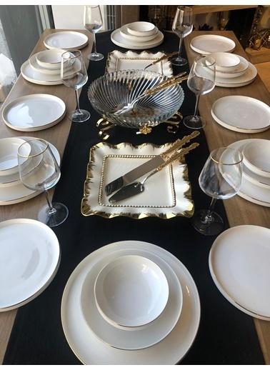 ROSSEV Yemek Takımı Modern Gold 39 Parça 6 Kişilik Renkli